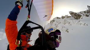 Speedriding-Val d'Isère, Espace Killy-Speedriding tandem flight in Val d'Isère-2
