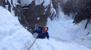 Ice Climbing-Risoul, La Forêt Blanche-Icefall climbing courses in Queyras Mountains-1