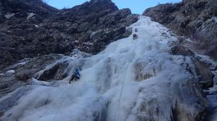 Ice Climbing-Risoul, La Forêt Blanche-Icefall climbing courses in Queyras Mountains-2