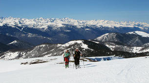 Ski touring-Ariege-Ski touring initiation in Ax-les-Thermes, Ariege-4