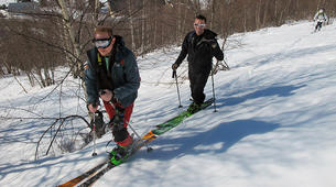 Ski touring-Ariege-Ski touring initiation in Ax-les-Thermes, Ariege-3