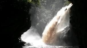 Abseiling-George-Abseiling down the Swart River Waterfall-3