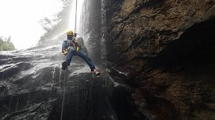 Abseiling-George-Abseiling down the Swart River Waterfall-2