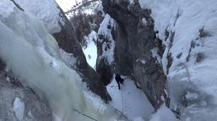 Ice Climbing-Risoul, La Forêt Blanche-Icefall climbing initiation in Queyras Mountains-4