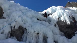 Ice Climbing-Risoul, La Forêt Blanche-Icefall climbing initiation in Queyras Mountains-2
