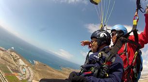 Parapente-Costa Adeje, Tenerife-Tandem paragliding flight over Ifonche, near Vilaflor-1