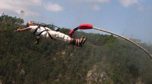 Bungee Jumping-Plettenberg Bay-Africa's highest bridge bungee, 216m from Bloukrans Bridge-9