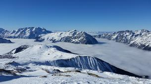 Snowshoeing-Alpe d'Huez Grand Domaine-Snowshoe hike around the Lacs des Grandes Rousses in Alpe d'Huez-5