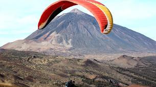 Parapente-Costa Adeje, Tenerife-Tandem paragliding flight over Ifonche, near Vilaflor-3