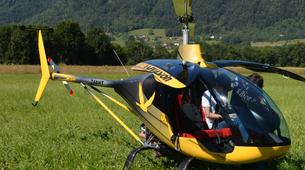 Helicoptère-Annecy-Baptême Hélicoptère au-dessus du Lac d'Annecy-5