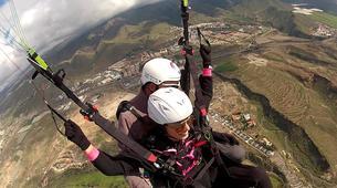 Parapente-Costa Adeje, Tenerife-Tandem paragliding flight over Ifonche, near Vilaflor-4