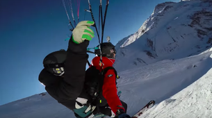 Speedriding-Val d'Isère, Espace Killy-Speedriding tandem flight in Val d'Isère-4