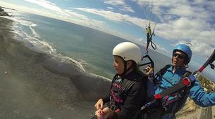 Parapente-Costa Adeje, Tenerife-Tandem paragliding flight over Ifonche, near Vilaflor-5
