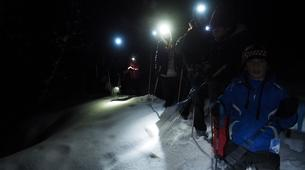 Snowshoeing-Cauterets-Night-time snowshoe hike at the Pont d'Espagne-3