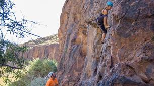 Rock climbing-Maspalomas, Gran Canaria-Rock climbing for beginners in Fataga or Sorrueda, Maspalomas-3