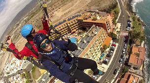 Parapente-Costa Adeje, Tenerife-Tandem paragliding flight over Ifonche, near Vilaflor-2