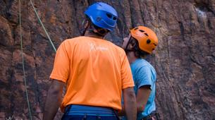 Rock climbing-Maspalomas, Gran Canaria-Rock climbing for beginners in Fataga or Sorrueda, Maspalomas-2