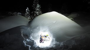 Snowshoeing-Cauterets-Night-time snowshoe hike at the Pont d'Espagne-2