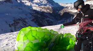 Speedriding-Val d'Isère, Espace Killy-Speedriding tandem flight in Val d'Isère-1