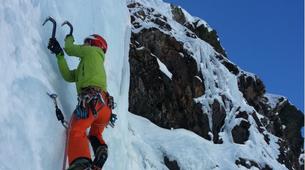 Ice Climbing-Bielsa-Icefall climbing in Northern Bielsa, Spanish Pyrenees-1
