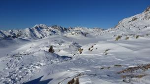 Snowshoeing-Alpe d'Huez Grand Domaine-Snowshoe hike around the Lacs des Grandes Rousses in Alpe d'Huez-6