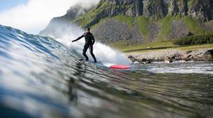 Surf-Lofoten-Arctic surfing in Unstad Bay, Lofoten-1