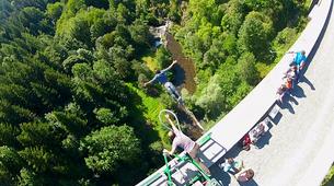 Bungee Jumping-Haute-Loire-Bungee jumping from Viaduc de la Recoumène (65 m) near Le Puy en Velay-6