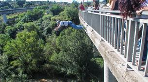 Saut à l'élastique-Barcelone-Saut Pendulaire au Pont de Sant Sadurní d'Anoia, près de Barcelone-3