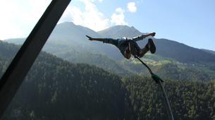 Saut à l'élastique-Innsbruck-Bungee jumping from 192 metres, Europabrücke (Europe Bridge)-1