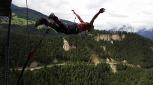 Saut à l'élastique-Innsbruck-Bungee jumping from 192 metres, Europabrücke (Europe Bridge)-5