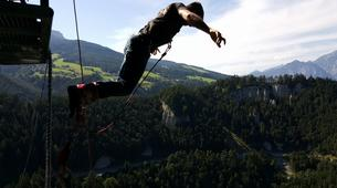 Saut à l'élastique-Innsbruck-Bungee jumping from 192 metres, Europabrücke (Europe Bridge)-4