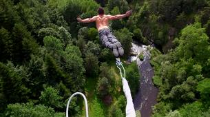 Bungee Jumping-Haute-Loire-Bungee jumping from Viaduc de la Recoumène (65 m) near Le Puy en Velay-1