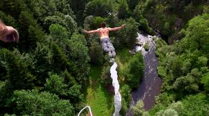 Bungee Jumping-Haute-Loire-Bungee jumping from Viaduc de la Recoumène (65 m) near Le Puy en Velay-2