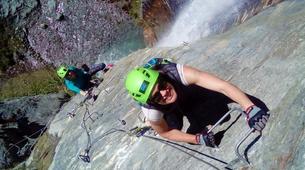 Via Ferrata-Wanaka-'Wild Things ' Twin Falls Waterfall Cable Climb in Wanaka-4