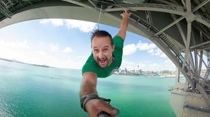 Bungee Jumping-Auckland-Bungee jumping (40 m. Ocean Touch) from Auckland Bridge-1