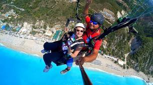 Paragliding-Lefkada-Tandem paragliding flight over Lefkada, Greece-4