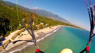 Paragliding-Mount Olympus-Tandem paragliding flight on wheelchair over Mount Olympus-6