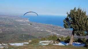 Paragliding-Mount Olympus-Tandem paragliding flight on wheelchair over Mount Olympus-5