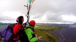 Paragliding-Vik i Myrdal-Tandem paragliding flights over Vik y Myrdal, Iceland-2