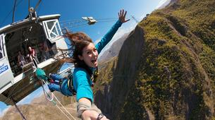 Bungee Jumping-Queenstown-Bungee jumping over Nevis River (134m. Australasia's Highest) in Queenstown-1