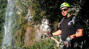 Via Ferrata-Wanaka-'Wild Things ' Twin Falls Waterfall Cable Climb in Wanaka-2