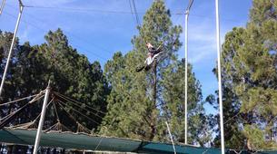 Tyrolienne-Drakensberg-Flying trapeze swing in Drakensberg-3