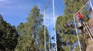 Tyrolienne-Drakensberg-Flying trapeze swing in Drakensberg-1