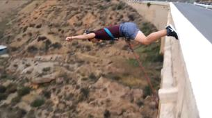 Saut à l'élastique-Costa Almería-Rope swinging from 35 metres in Gador, Almeria-1