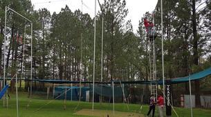 Tyrolienne-Drakensberg-Flying trapeze swing in Drakensberg-5