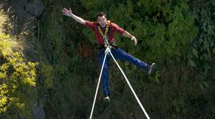 Bungee Jumping-Queenstown-Swing 400 metres from the Ledge (Epic Views) over Queenstown-6