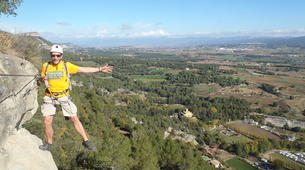 Via Ferrata-Centelles-Via ferrata Les Baumes Corcades near Barcelona-5