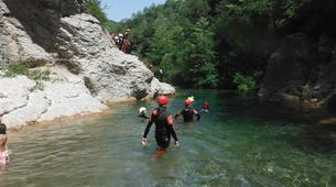 Canyoning-Girona-Family canyoning in Gorges of Albanya in Girona-1