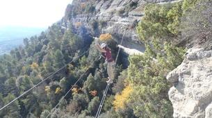 Via Ferrata-Centelles-Via ferrata Les Baumes Corcades near Barcelona-6