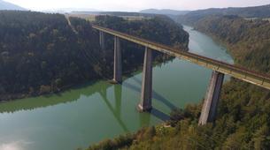 Saut à l'élastique-Klagenfurt-Bungy jumping from the Jauntal bridge (96 m.) in Austria-7